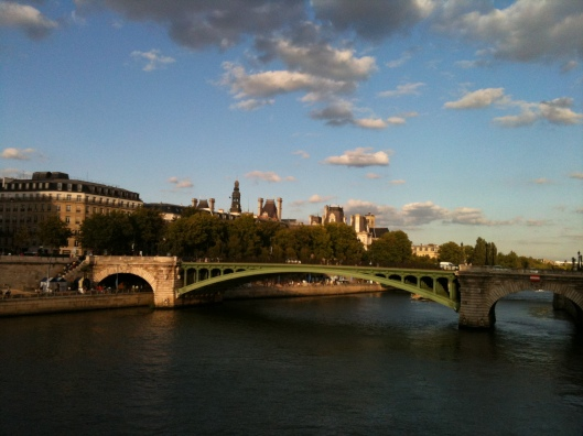 Paris evening view over Ile de Cite
