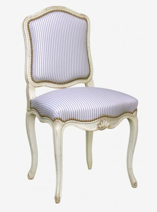 Pale Blue Striped Regency Chair by Moissonnier